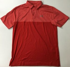 Under Armour Men's Golf Polo Heat Gear Red 1297612 Size M 601