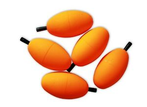 COMAL TACKLE 10 OVAL Floats Rigging Lures Fishing Tackle 2.5quot; with Pegs Orange