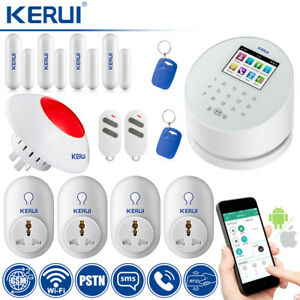 KERUI W2 GSM WIFI PSTN Home Burglar Security Alarm System Wireless Smart Socket