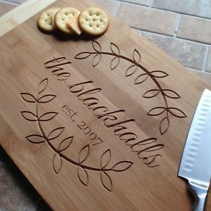 Personalized Bamboo Cutting Board, Christmas Gift, Anniversary Gift
