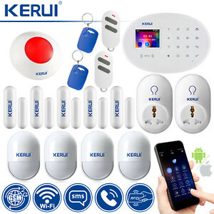 App Control KERUI W20 GSM Wifi SMS RFID Home Security Alarm System Smart Socket