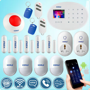 KERUI W20 GSM Wifi SMS RFID Home Security Alarm System Wireless Smart Socket Kit