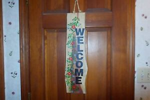 Hand made wood sign home wall decor. WELCOME