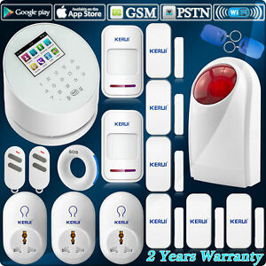 W2 WIFI GSM PSTN GSM Wireless Home Intruder Security Alarm System Smart Socket