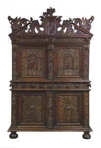 Magnificent 16th-17th Century Renaissance Period Cabinet - Rare - One of a kind