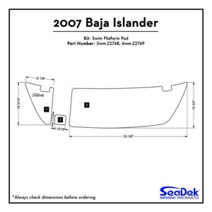 Baja Islander - SeaDek Swim Platform Traction Pads - Custom Design  Colors
