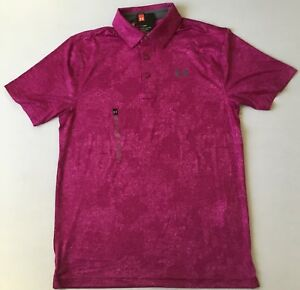 Under Armour Men's Golf Polo Heat Gear 635 Pink 1306331 Size S $29.99
