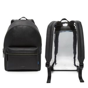 NWT $295 Black JR X URI MINKOFF Men's Paul Leather Backpack Bag