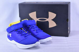 Youth Boy's Under Armour BGS Get B Zee Basketball Shoes Royal BlueWhite