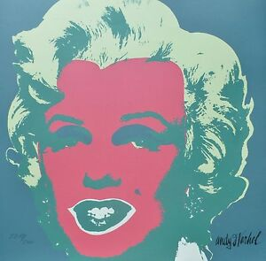 ANDY WARHOL MARILYN MONROE 1986 HAND NUMBERED 22172400 LITHOGRAPH signed