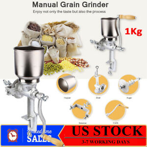 Manual Grinder Stainless Corn Grain Wheat Nut Flour Mill Grind Control Thickness