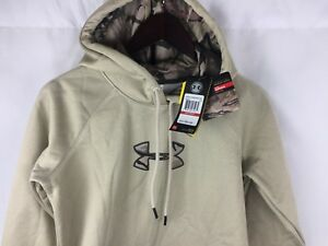 Under Armour Womens Storm Caliber Hoodie 1286058 Size XS Oatmeal Camo $65
