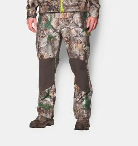 NEW $260 UNDER ARMOUR UA STORM WINDSTOPPER PANTS CAMO REALTREE 1259191-946 XXL