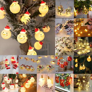 Christmas LED String Lights Snowman Fairy Indoor Outdoor Party Xmas Tree Decor $13.48
