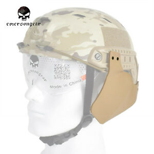 Emerson Tactical Side Cover for FAST Airsoft Helmet Rail Black Tan