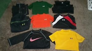 BOYS LOT of 9 UNDER ARMOURNIKECOLUMBIA Shirts Hoodie Youth small medium large