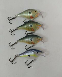 (4) Rapala Scatter Rap 05 Lot of 4 Crankbait fishing lures