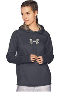 Under Armour Women's Icon Caliber  Storm Hoodie BlackRealtree Camo ~LARGE~Nwt