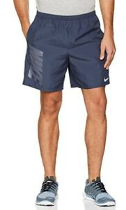 Nike Men 7 Inch DRY Running Shorts Pockets Purple 908782 471 THUNDER BLUE $33.97