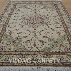 YILONG 6'x9' Persian Handwoven WoolSilk Rug Popular Design Floor Carpet 1396