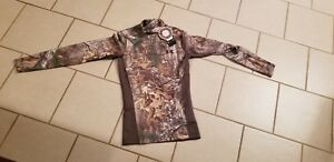 Under Armour Cold Gear Camo Mock Shirt Infrared Fitted Men SMALL CAMO HUNT $47.99