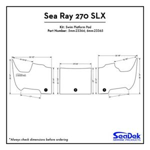 Sea Ray 270 SLX - SeaDek Swim Platform Traction Pads - Custom Design  Colors