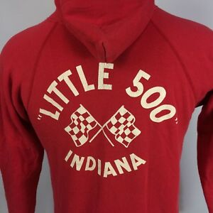 Rare Vintage Bicycle Racing IU Little 500 College University Sweatshirt Hoodie