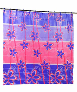 Carnation Home Fashions 3D Prism Look PEVA Shower Curtain with Built in Shower