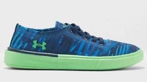 Under Armour KickIt2 Boys Kids Shoes Blue Green Sneakers Shoes 3020104-401