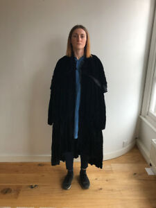 Original 1970's Thea Porter Black Velvet Cloak