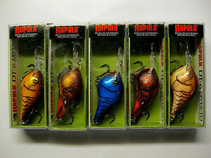 Rapala Dives To DT-6 Fishing Lures 5 Colors All Crawdad!