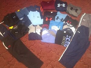 Boys Under Armour Size Youth Large 14-16 Pants Shirts hoodies Large Lot Huge 22p