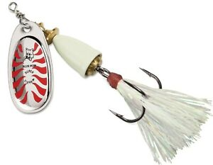 Blue Fox Classic Vibrax Glow Inline Spinner Glowing Dressed Hook Trout Lure