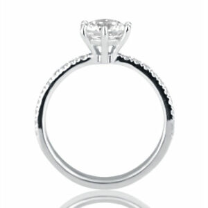 1 CT Enhanced Diamond Engagement Ring Round DSI1 950 Platinum Size Selectable