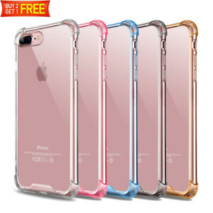 For iPhone 8 Plus 7Plus XR Case Clear Defender Transparent Shockproof Hard Cover