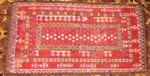 Antique Hand Woven Turkish KILIM Rug 7' x 3 12' from Karl Springer NY