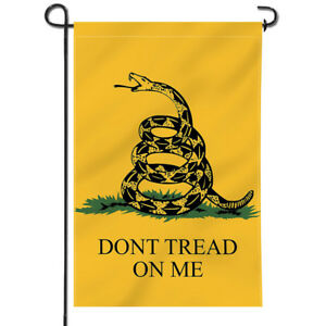 Anley Don't Tread On Me Garden Flag Decorative Flags Double Sided 18 x12.5 Inch
