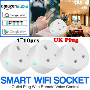 10XUK Smart Plug WiFi Sockets Power Socket fr Amazon Alexa Google Home IFTTT LOT