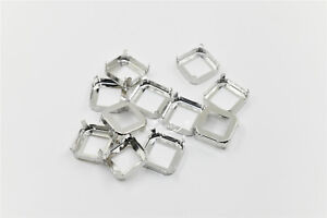 50 PCS 23x23mm Square Strong Settings For Sewing On Soldering $8.90