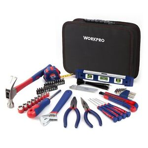WORKPRO Kitchen Drawer Tool Kit 100-Piece with Easy Carrying Pouch HOME TOOL KIT