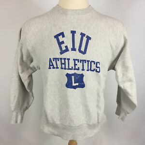 Vtg EIU Eastern Illinios University Champion Reverse Weave Distressed Sweatshirt