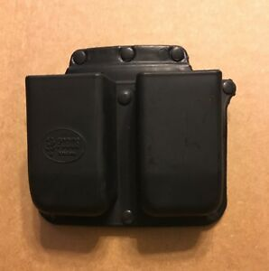 Fobus Belt Double Magazine Pouch Ambidextrous Double Stack Polymer Black