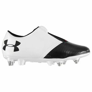 Under Armour Spotlight Hybrid Football Boots Juniors White Soccer Shoes Cleats