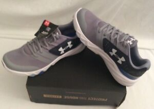 Under Armour Youth Boys Size 7 BGS Primed  Gray Athletic Running Shoes NWOB