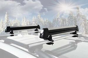 New Premium Universal 6 Ski 4 Snowboard Carrier w T-Track Mount Only  w Locks