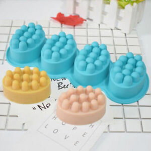 Massage Bar 4 Cavity Silicone Mold 3D For Pudding Soap Jelly Mould Tray Durable
