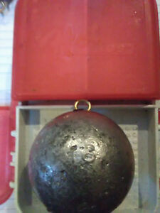 70 16 oz cannonball lead fishing weight from do it mold with brass eye BUNDLE