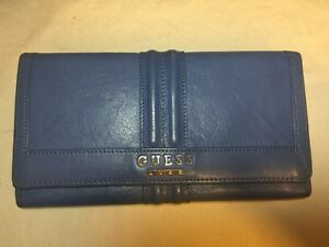 Guess Women's Wallet (Blue)- Genuine Leather
