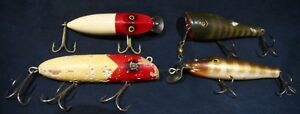 4 Vintage Fishing Lures Up For Bid-Antique Fishing Lures-Nice Condition (Lot #1)
