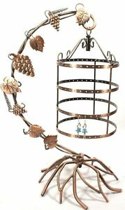 NEW Jewelry Tree Earring Necklace Holder Display Stand Birdcage Hang Organize...